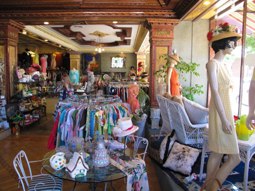Interior of Playclothes Vintage Store