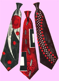 Vintage 1940's Silk Ties at Playclothes Vintage Clothing
